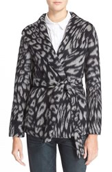 Women's Ayr 'The Snow Leopard' Wool And Alpaca Shawl Collar Coat