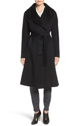 Diane Von Furstenberg Women's Shawl Collar Wool Blend Long Wrap Coat