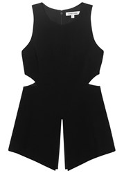 Elizabeth And James Zane Black Cut Out Crepe Tunic
