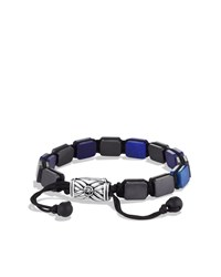 Spiritual Beads Five Station Tile Bracelet With Lapis Lazuli David Yurman Silver