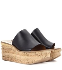 Chloe Camille Leather Mules Black