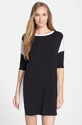 Dkny Three Quarter Sleeve Sleep Shirt Black