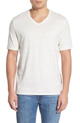 Men's Vince Camuto Pima Cotton V Neck T Shirt White
