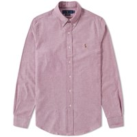 Polo Ralph Lauren Button Down Slim Fit Oxford Shirt Pink