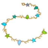 Tagliamonte Marina Collection Blue And Green 18K Gold Necklace Blue Green