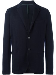 Harris Wharf London Buttoned Knit Blazer Blue