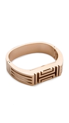 Tory Burch For Fitbit Metal Hinged Bracelet Rose Gold