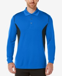 Pga Tour Men's Long Sleeve Polo Surf The Web