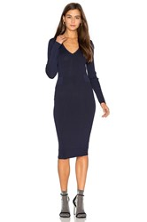 John And Jenn By Line Faye V Neck Sweater Dress Navy