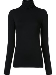 Majestic Filatures High Neck Longsleeved T Shirt Black