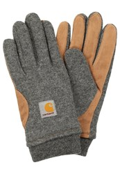 Carhartt Wip Foster Gloves Dark Grey Heather Hamilton Brown Mottled Dark Grey
