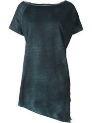 Avant Toi Asymmetric Boat Neck T Shirt Grey