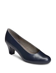 Aerosoles Shore Thing Patent Leather Pumps Dark Blue