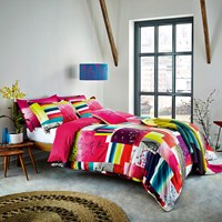 Clarissa Hulse Watercolour Patchwork Duvet Cover Super King