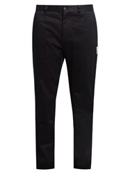 Moncler Gamme Bleu Slim Fit Cotton Chino Trousers Navy