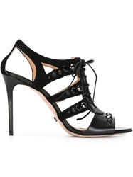 Viktor And Rolf Lace Up Stiletto Sandals Black