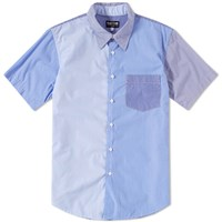 Rough And Tumble Short Sleeve Fun Stripe Shirt Blue
