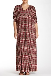White Label By Rachel Pally Florence Print Kaftan Maxi Dress Plus Size Multi