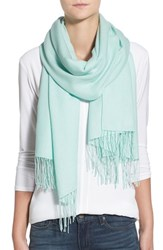 Women's Nordstrom Tissue Weight Wool And Cashmere Scarf Blue Green Teal Fair