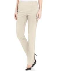 Jm Collection Petite Studded Pull On Pant Stone Wall