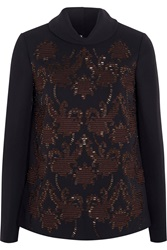 Tory Burch Walden Embellished Crepe Top
