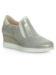 Daniel South Dakota Sporty Wedge Trainers Metallic