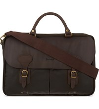 Barbour Classic Wax Leather Briefcase Olive