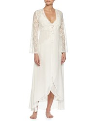 Jonquil Lace Sleeve Long Robe Ivory