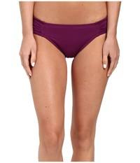 Lablanca Island Goddess Side Shirred Hipster Bottom Cranberry Women's Swimwear