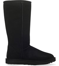 Ugg Classic Ll Tall Sheepskin And Suede Boots Black
