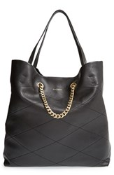 Lanvin 'Carry Me' Quilted Lambskin Leather Tote Black