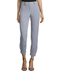 Halston Tapered Cropped Pants Bone