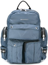Dsquared2 'Utilitary' Backpack Blue