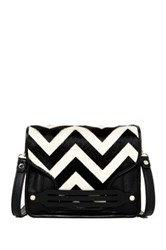 Ella Moss Bridget Genuine Calf Hair Crossbody Black