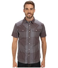 Black Diamond S S Technician Shirt Slate Port Plaid Men's Short Sleeve Button Up Brown