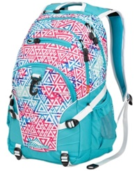 High Sierra Loop Backpack Galaxy Tribe Tropical Teal White