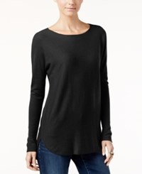 Inc International Concepts High Low Sweater Only At Macy's Deep Black