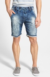 Mavi Jeans 'Colin' French Terry Jogger Shorts Sporty Blue