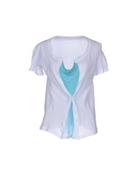 Paolo Pecora Donna T Shirts Turquoise