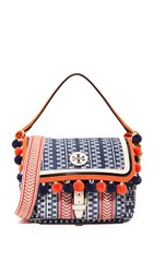 Tory Burch Scout Nylon Pom Pom Cross Body Bag Tory Navy Multi