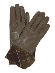 Barbour Lady Jane Leather Glove Dark Brown