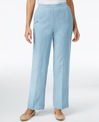 Alfred Dunner Petite Northern Lights Pull On Pants Dove Blue