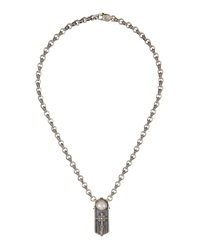 Konstantino Pearl Cross Station Necklace Women's