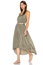 Pink Stitch Willow Maxi Dress Olive