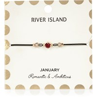River Island Womens Red January Birthstone Bracelet