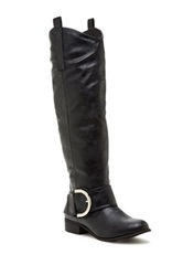 Charles Albert Buckle Tall Boot Black