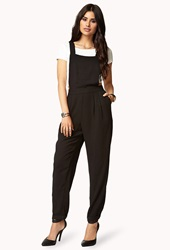 Forever 21 Sleek Overall Jumpsuit Black