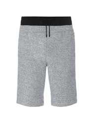 Public School Double Waistband French Terry Shorts Grey