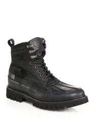 Rag And Bone Spencer Lace Up Lug Boots Dark Green Black