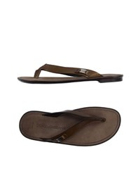 Dolce And Gabbana Footwear Thong Sandals Men Khaki